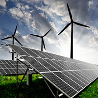 Energy and Oil & Gas Specialty - solar panels and wind turbines