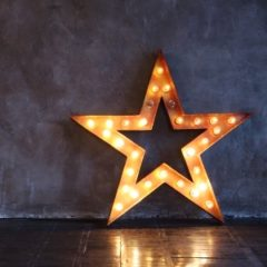 Entertainment Specialty - gold star with light bulbs