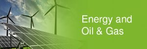 Energy and Oil & Gas - solar panels and wind turbines